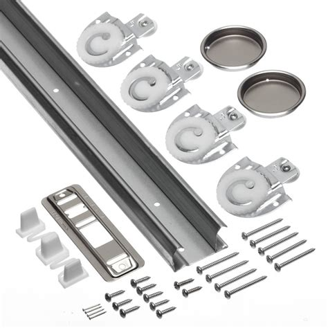 sliding door track kit worksavers 2 44m 96inches sliding door track hardware