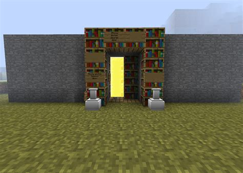 redstone creations sticky piston door