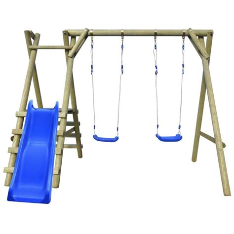 slide and swing set uk vidaxl swing set with ladders and slide 270x255x210 cm