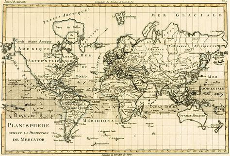 map drawing map of the world using the mercator projection drawing by