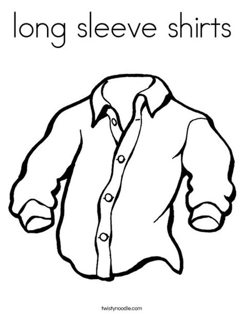 print this coloring page itll print full page long sleeve shirts coloring page twisty noodle