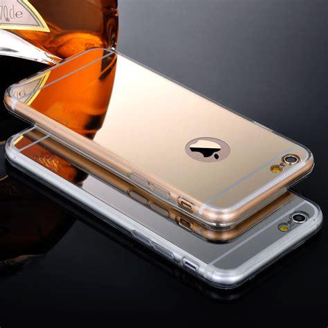 Luxury Bling Rhinestone Gold For Iphone 6 Plus gold luxury bling mirror for iphone 5 5s 6 4 7 6