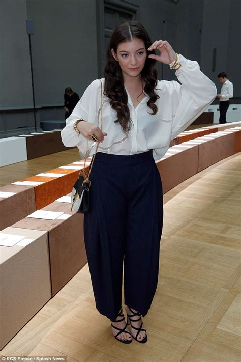 Daily Mail Wardrobe by Lorde Shows Stylish New Do At Fashion Week
