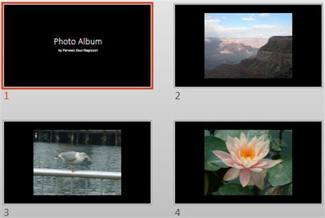 Apply Theme To Photo Album Presentations In Powerpoint 2013 Windows Powerpoint Tutorials Powerpoint Album Template