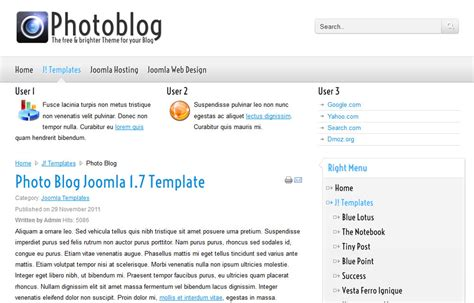 joomla photography template free photograpy free joomla theme