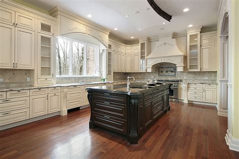 dark wood kitchen island timeless kitchen idea antique white kitchen cabinets