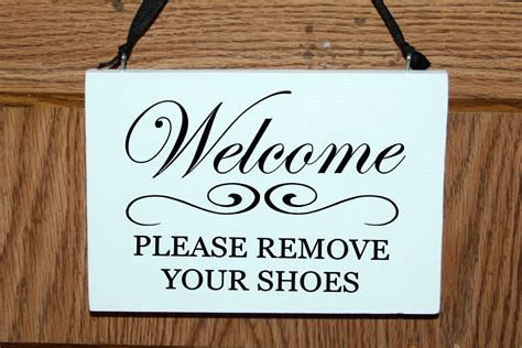 Remove Your Shoes Sign Printable