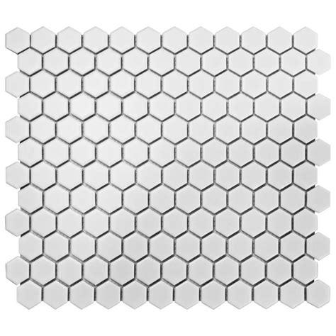 1 matte white hex floor tile merola tile metro hex matte white 10 1 4 in x 11 3 4 in