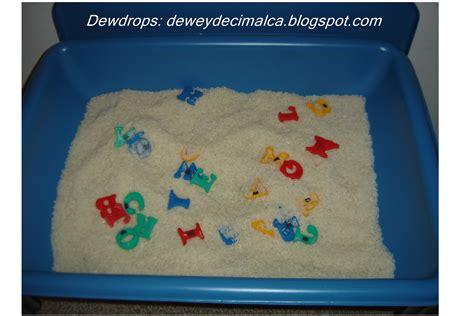 Dewdrops Tot Sensory Activity Alphabet Rice