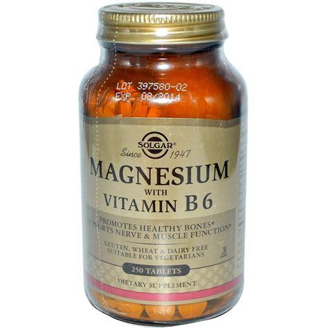 Vitamin Magnesium Solgar Magnesium With Vitamin B6 250 Tablets Iherb