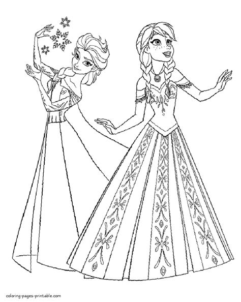 coloring pages for elsa and anna elsa and anna coloring page frozen pages sheets 7245 for