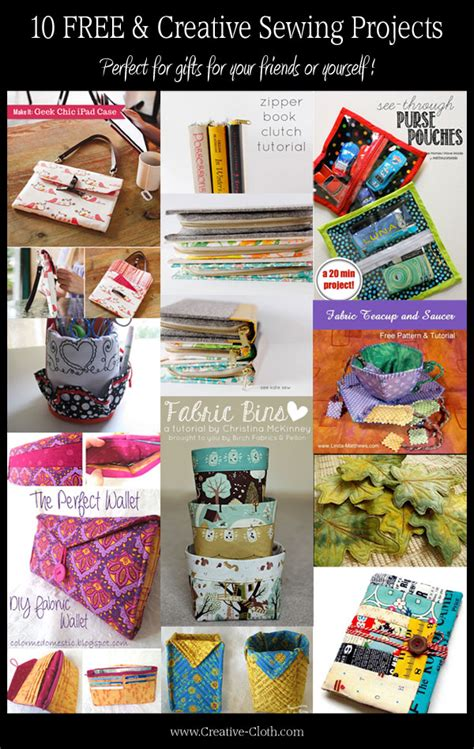 10 free and creative sewing projects