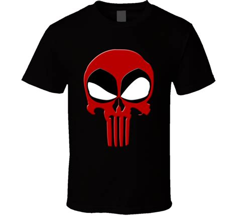 T Shirt Deadpool Punisher Deadpool Punisher Logo Marvel Comic Book T Shirt