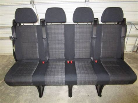 van bench seats 14 16 mercedes benz sprinter van 4 passenger black cloth