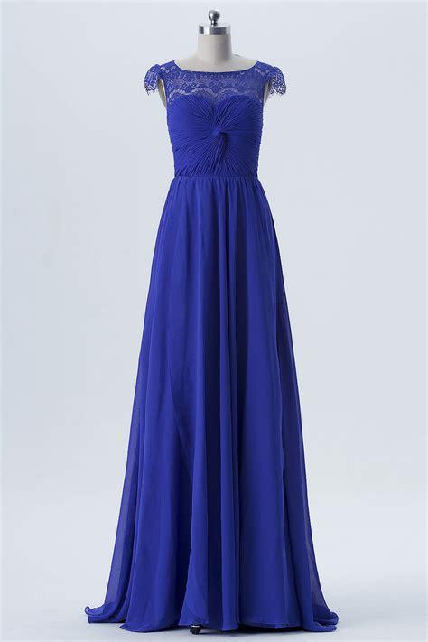 Robe Bustier Bleu Roi Mariage - el 233 gante robe bleu roi encolure en dentelle ajour 233 e buste