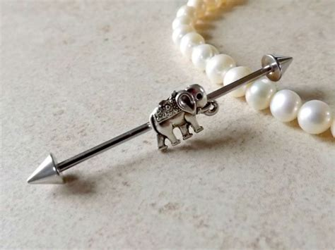 Industrial Bar Industrial Barbell Tiny Elephant Jewelry Ear Jewelry