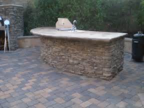 Outdoor Patio Pavers Outdoor Fireplace Pizza Oven Bbq Island And Paver Patio