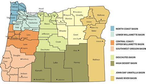 oregon map of counties county map of oregon a map of oregon counties road map of