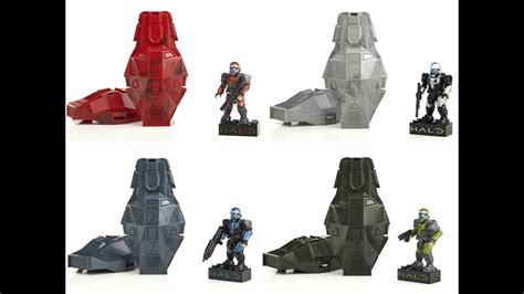 mega bloks metallic series odst drop pods halo