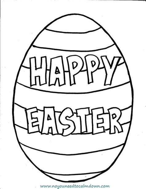 happy easter coloring pages quot happy easter quot egg coloring page for free printable