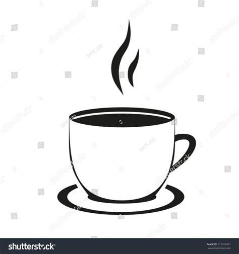 the images collection of background sign cup stock vector hot cup tea coffee on white stock vector 112728421