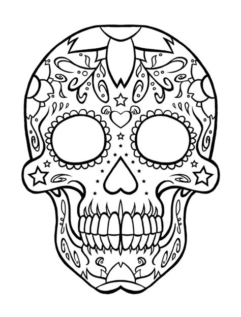 coloring pages of hearts and skulls skull drawings pictures clipart best