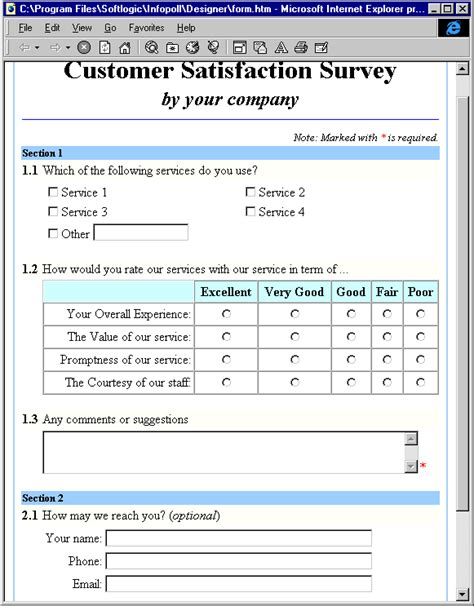 design survey form infopoll step2 preview and review your survey form