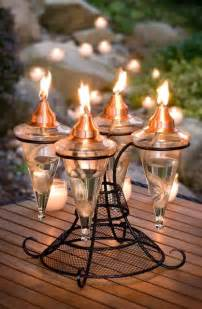 table top 4 glass torch traditional outdoor lighting