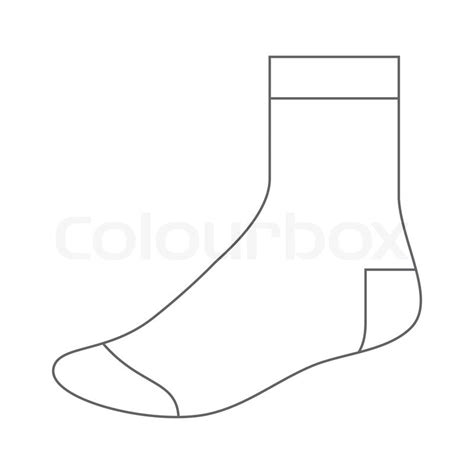 sock template stock vector colourbox