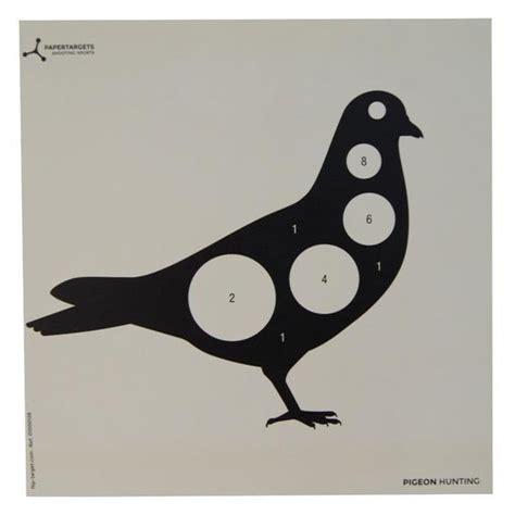 Printable Pigeon Targets | flip target paper targets pigeon 50pk uttings co uk
