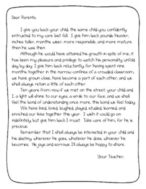 thank you letter to parents from end of the year end of the year parent letter by randi teachers pay teachers