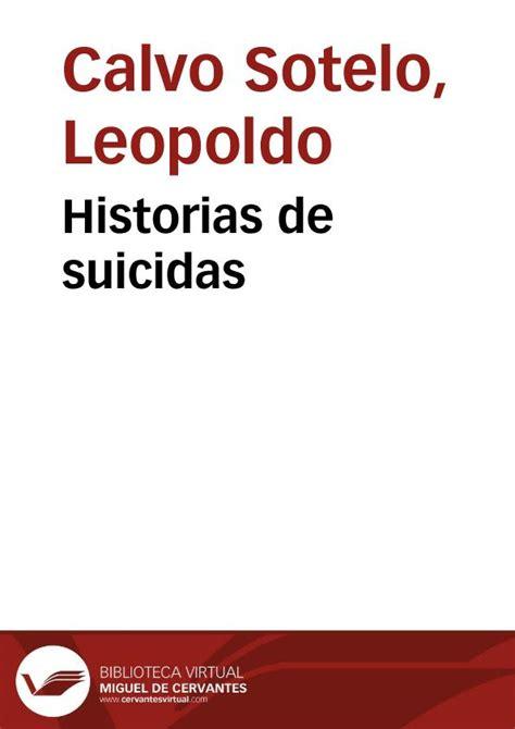 historias de terramar obra 8445076213 historias de suicidas leopoldo calvo sotelo biblioteca virtual miguel de cervantes