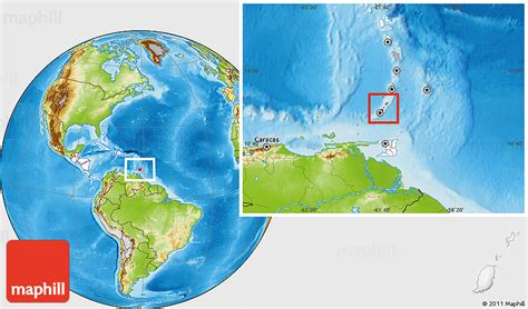 where is grenada located on a world map physical location map of grenada highlighted continent