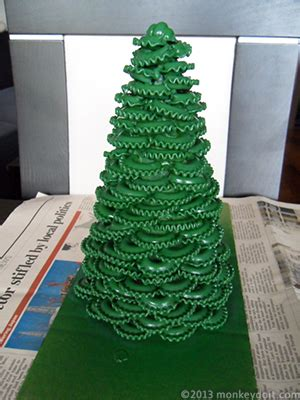 sprayed painted christmas trees how to make a tree out of pasta