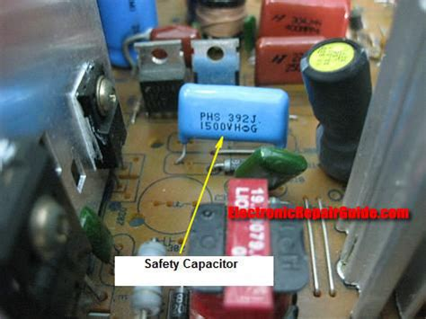 crt tv capacitor monitor high voltage