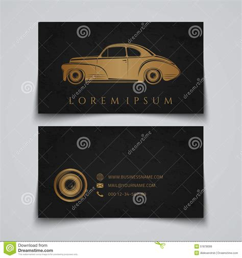 Car Audio Business Card Template by Business Card Template Classic Car Logo Stock Vector