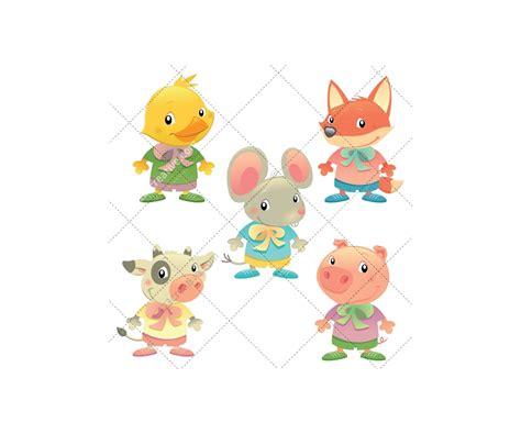cartoon illustrations  cute cartoon animals vector