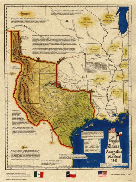 map of texas annexation texas historical map republic of texas 1845 statehood