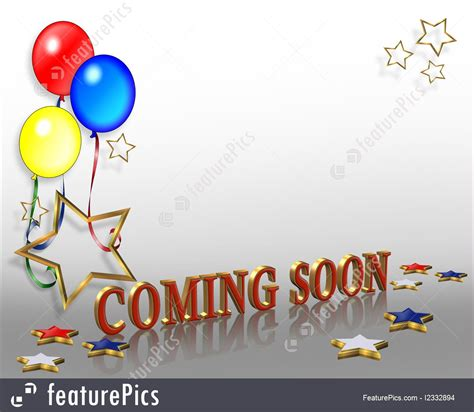 Coming soon balloons template illustration