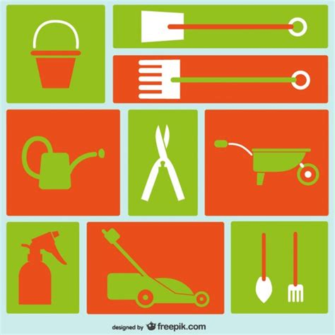Garden Icon by Gardening Tools Icons Vector Free