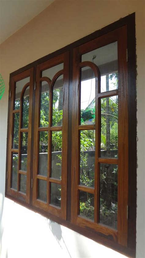 Glass Windows And Doors Kerala Model Wooden Window Door Designs Wood Design Ideas