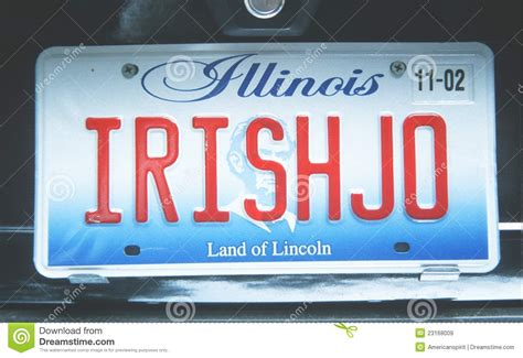 license plate in illinois editorial stock image image