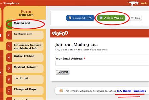 wufoo templates how to woohoo for wufoo in blogs smugmughugs