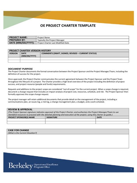 project charter template pdf project charter template 18 free templates in pdf word