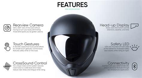 Motorradhelm Mit Head Up Display smarter motorradhelm mit head up display street hawk