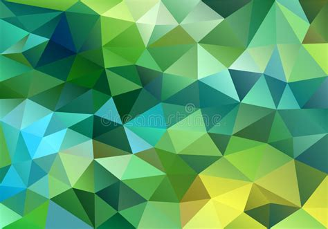 poly pattern ai abstract blue and green low poly background vector stock