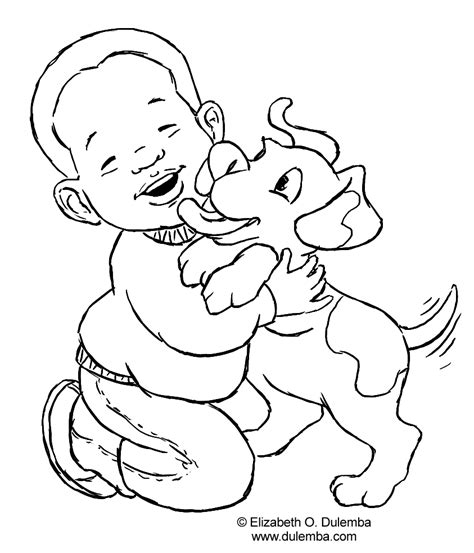 free coloring pages of african child