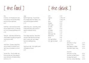 Free Bar Menu Templates by Restaurant Menu Templates Free From Serif