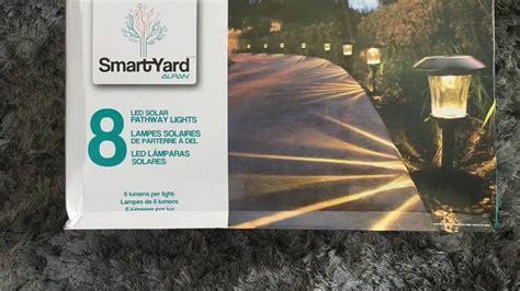 smartyard led solar pathway lights smartyard solar led large pathway lights from costco