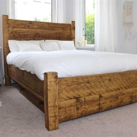 reclaimed wood bed reclaimed wooden bed frames kingsize double beds modish living